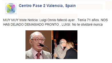 ricordo di Gigi Onnis - Centro Fase 2 Valencia