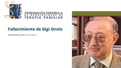 ricordo di Gigi Onnis Federation Espanola de Asociaciones de terapia familiar