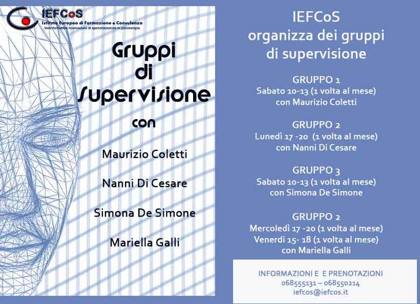 gruppi di supervisione IEFCoS